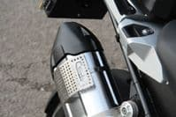 BMW R1250GS Soft Luggage Heat Shield   Prevent Your Panniers Melting   Motorcycle Heat Guard